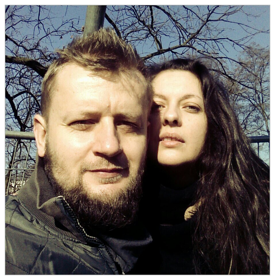 Marcin Stefański z małżonką